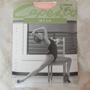 Capezio mesh seamed transition ballet tights